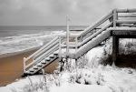 Snow on Pawleys Island beach.