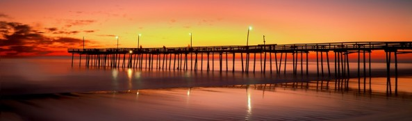 Sunrise, Outer Banks Fishing Pier, Fuji X-Pro 156 seconds, 3 stop ND.