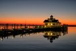 Roanoke Marshes Lighthouse sunrise