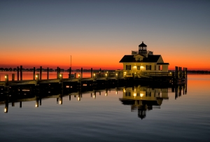 Roanoke Marshes Lighthouse sunrise