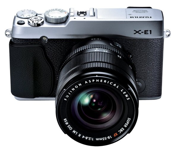 Fuji X-E1 with its 18-55mm lens
