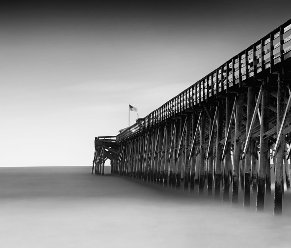 The Pawleys Island Pier, Fuji X-E1 with the 18-55mm lens, 3 stop Lee Graduated ND for the sky and a 3 stop ND overall.