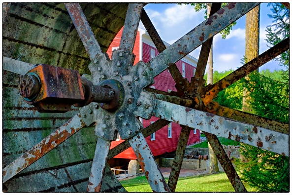 Adams Mill Wheel, Lafayette, IN, Fuji X100s
