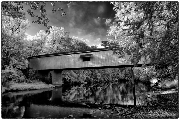 Adams Mill Bridge, IN, B&W Converted Post Processed