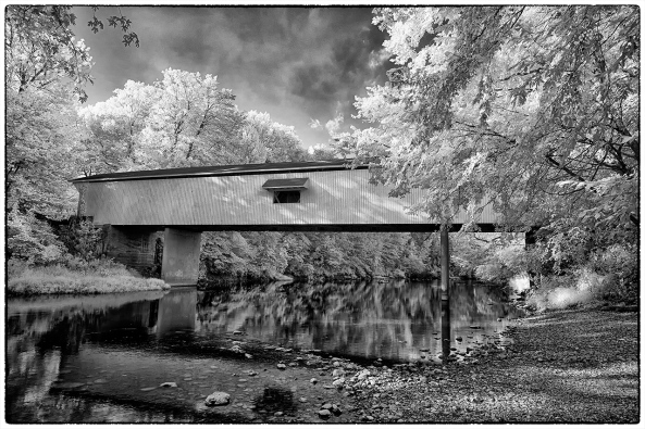 Adams Mill Bridge, IN, B&W Converted NO Post Processing!