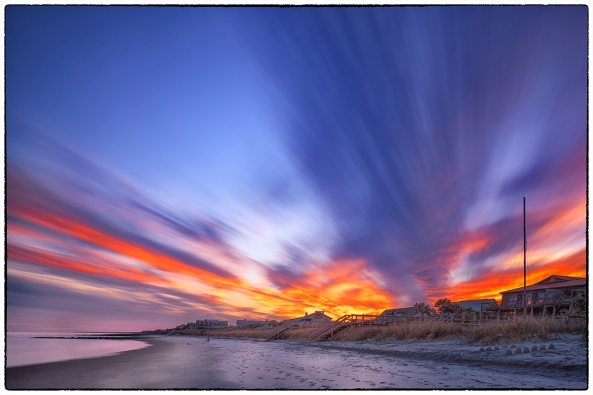 Fire In The Sky,  90 second exposure with 3 stops of grad ND on the sky and 6 stops of ND overall.  X-E2