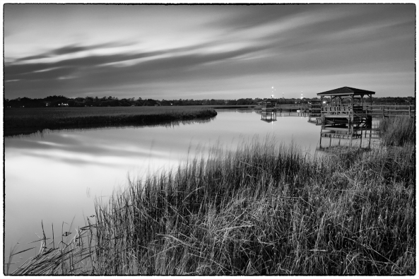 Blue Hour in B&W, Leica M240, 60 second exposure