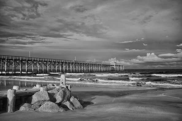 Pawleys Pier, 830nm IR, 3 stop internal ND, 1 second, f/16, ISO 200