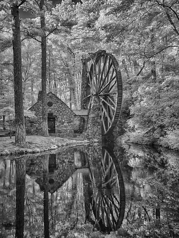 Berry College Mill, Fuji X100s 6 shot HDR at 830nm Infrared