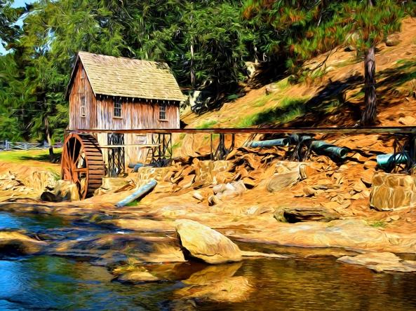 Greshams Mill w/ Topaz Impressions. Leica M 240 w/ Summilux 50mm f/1.2 lens, Topaz Impressions: Van Gogh 2