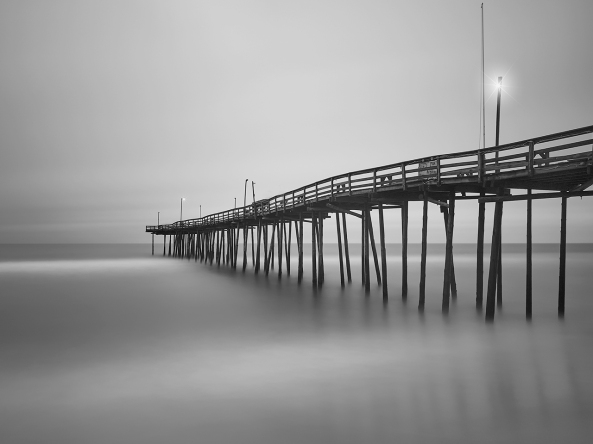 Outer Banks Fishing Pier, 250 second Exposure Leica M Monochrom