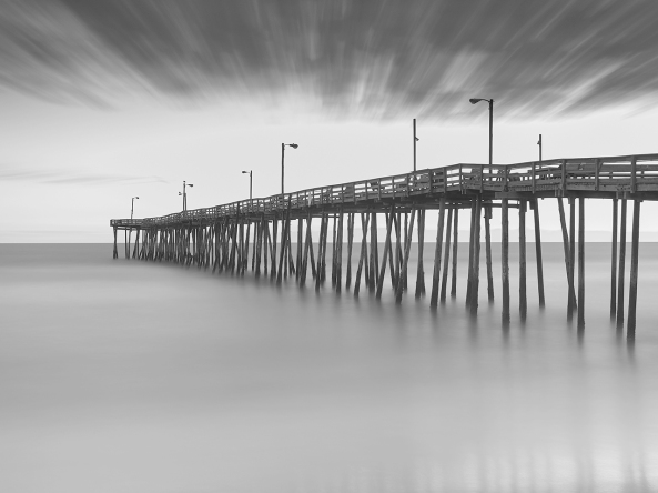 Outer Banks Fishing Pier, 250 second exposure.