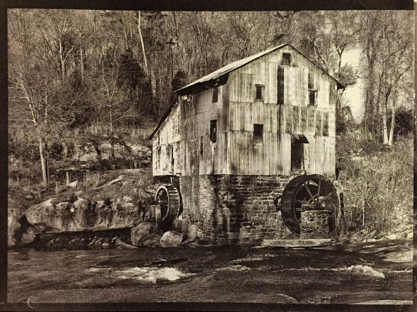 Anderson Mill, Gold Toned Van Dyke Brown Prints on  Lana Aquarelle 140lb HP  paper
