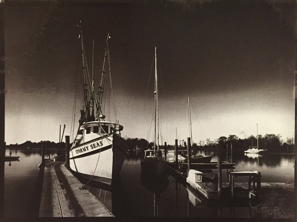 Stormy Seas on the dock, Gold Toned Van Dyke Brown Prints on  Lana Aquarelle 140lb HP  paper