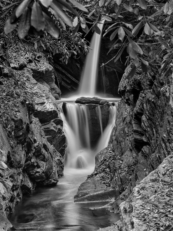 Duggars Creek Falls, Boone, NC.  Leica M Monochrome