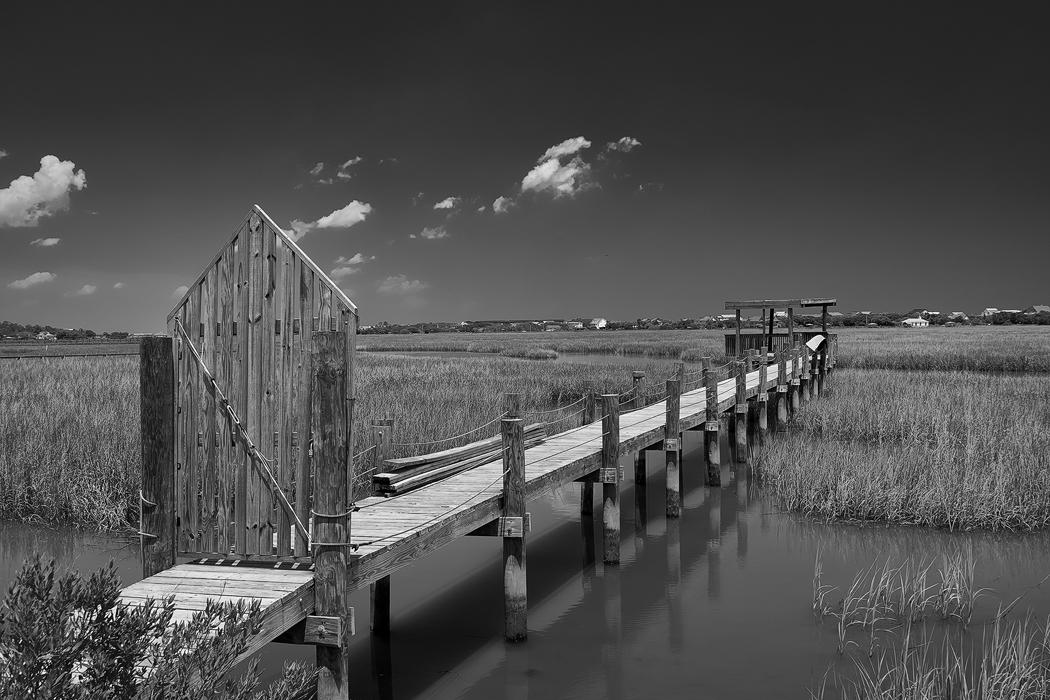 Pawleys Island Marsh, Sony A6300 with the Sony/Zeiss 24-70 f/4 and a polarizer.  B&W conversion