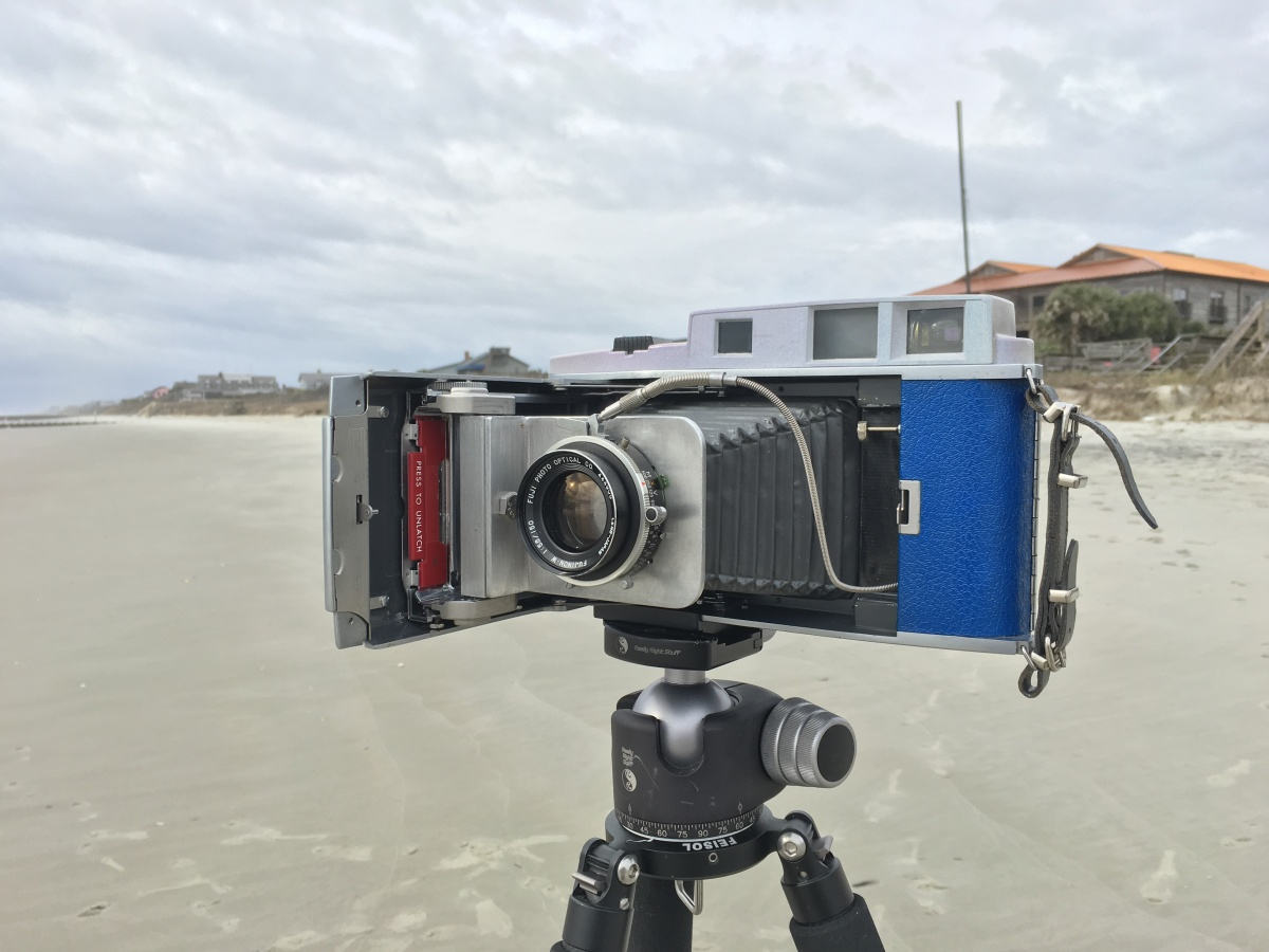 Polaroid 900 w/ 150mm Fujinon lens converted to 4x5 by Steven Icanberry.