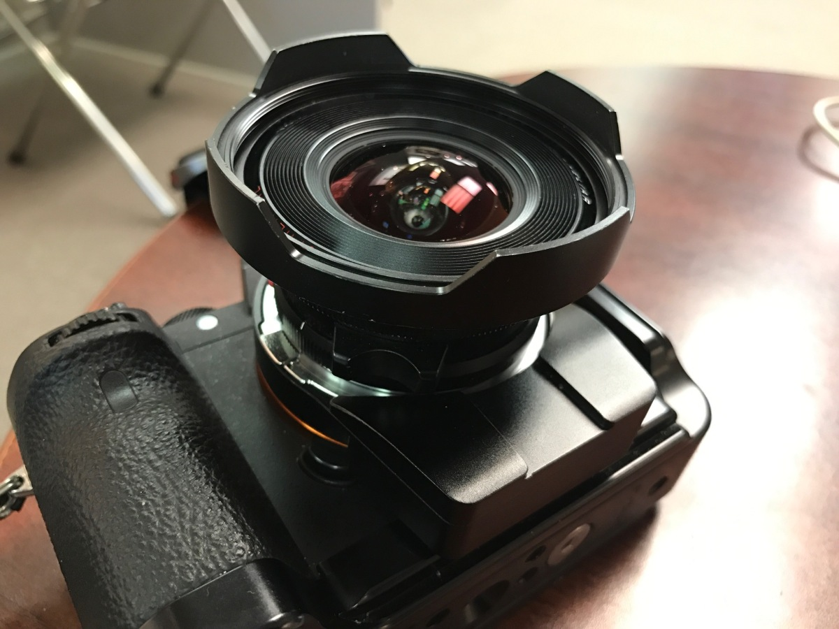 12mm Voigtlander M lens with the Techart autofocus M to FE adapter